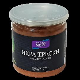 "Икра трески ""Лунское море"". Premium quality 170г"